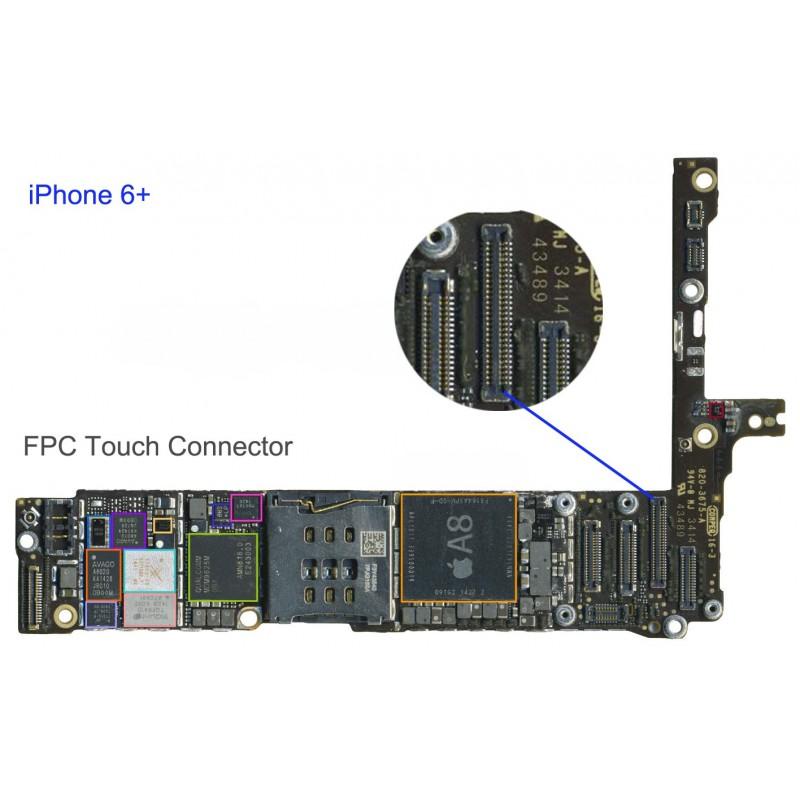 Iphone  Plus Fpc Digitizer Connector Repair