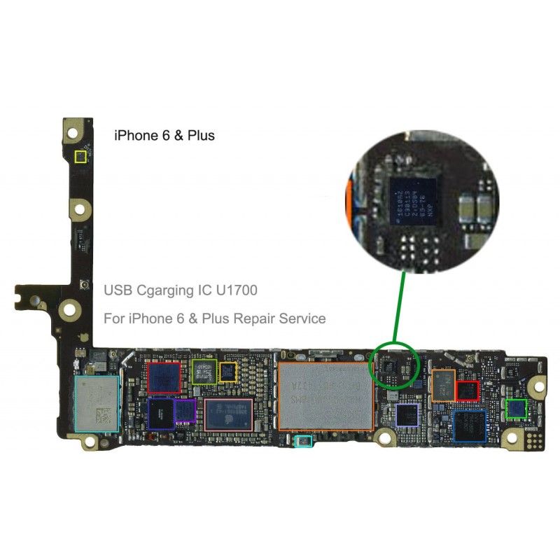 usb charging ic u2 1610a2 for iphone 6  u0026   plus repair