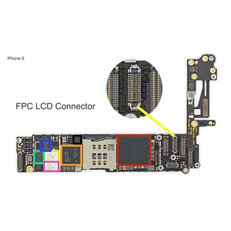low priced 86a09 65c17 FPC LCD Connector/Connector iPhone 6 Repair Service - iTechFixit