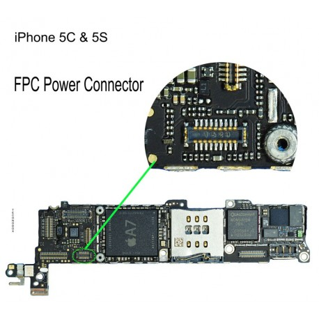 iphone 5c power button not working fpc power button connector iphone 5s repair service 9484