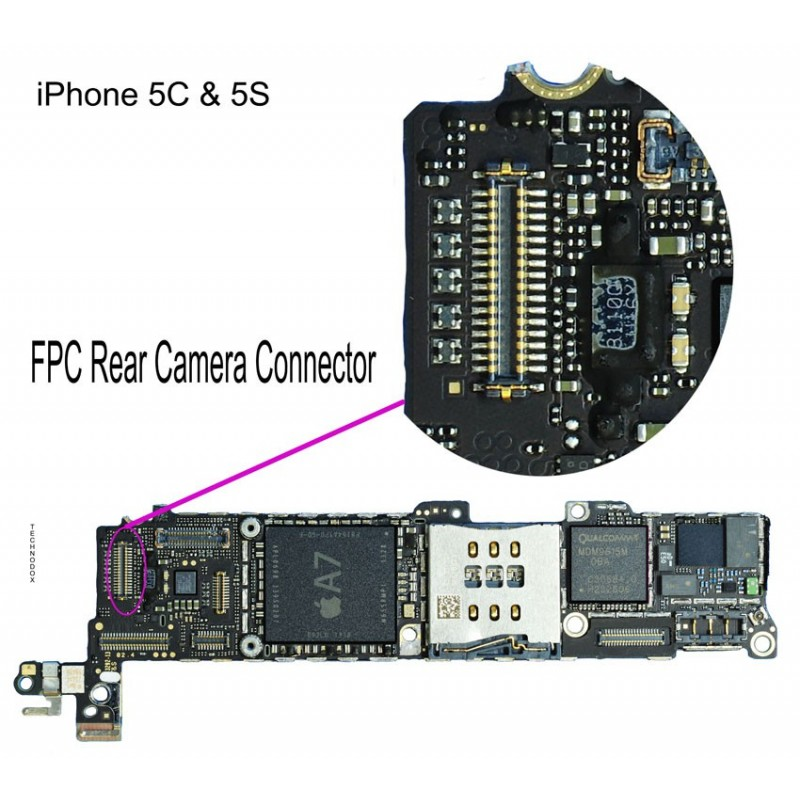iphone 5c repair fpc rear connector iphone 5s repair service 2933