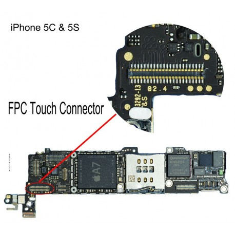 FPC Connector Repair iphone 5 5s 5c