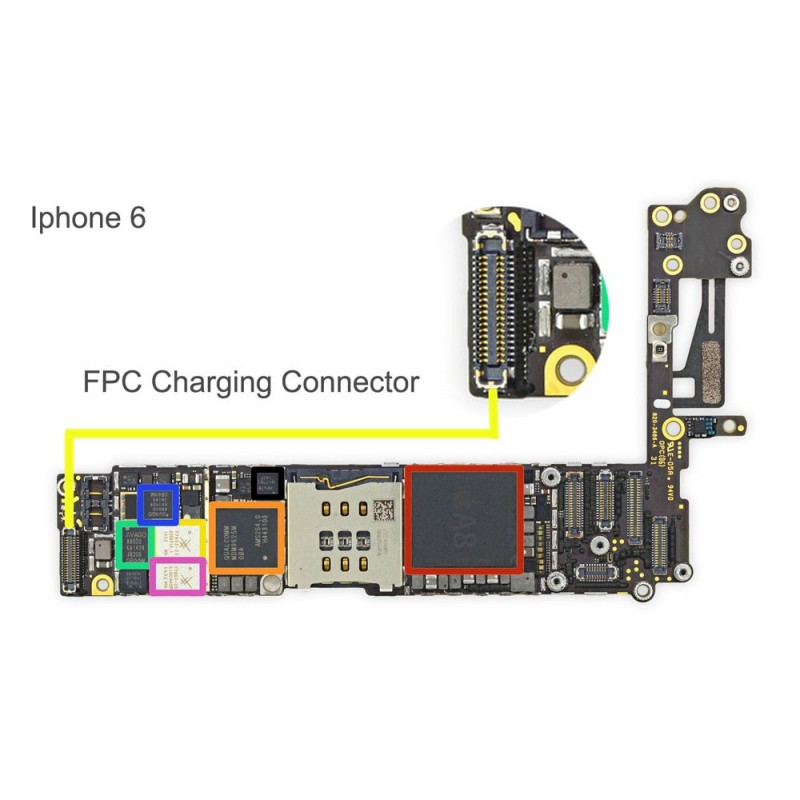 best service 6e2f1 71105 FPC Charging Dock Connector/Socket iPhone 6 Repair Service - iTechFixit