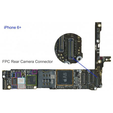 iphone 6 connector fpc rear connector socket iphone 6 plus repair 11312