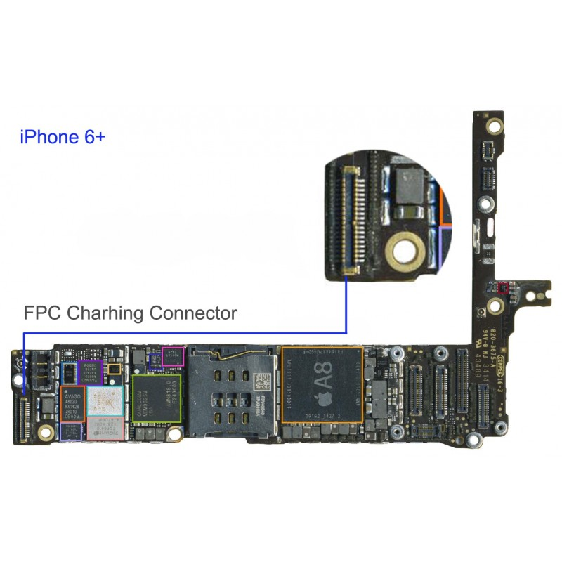 finest selection 2721f 1603a FPC Charging Dock Connector/Socket iphone 6 Plus Repair Service - iTechFixit