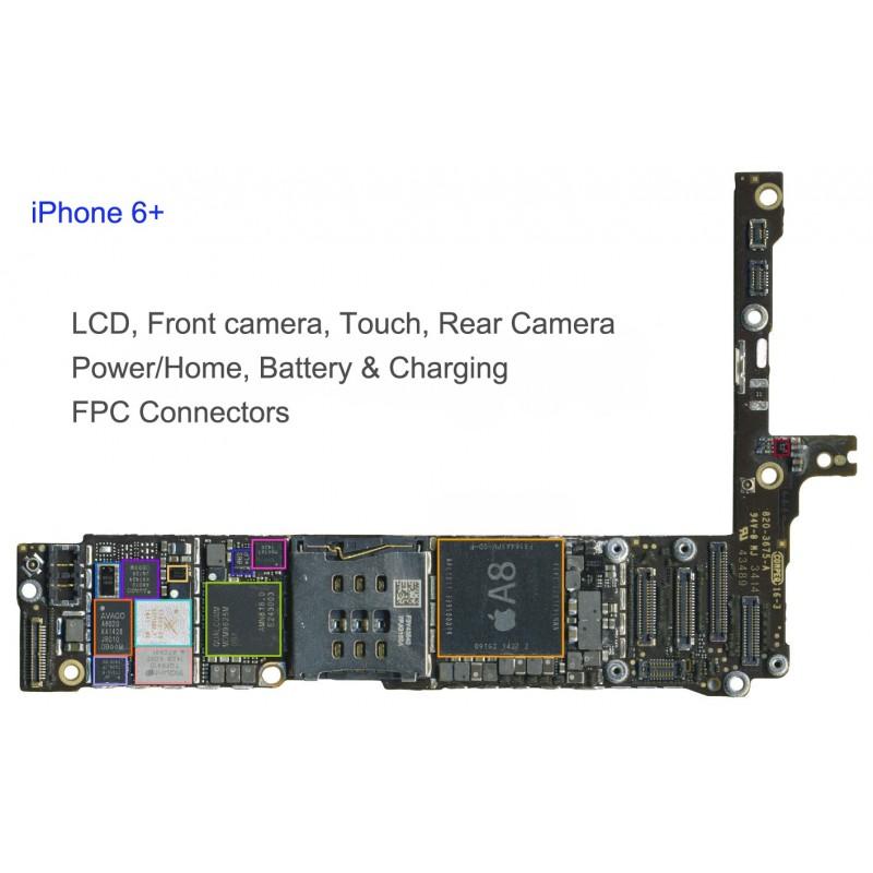 huge discount cd86d 2402b FPC LCD Connector/Socket iphone 6 Plus Repair Service - iTechFixit