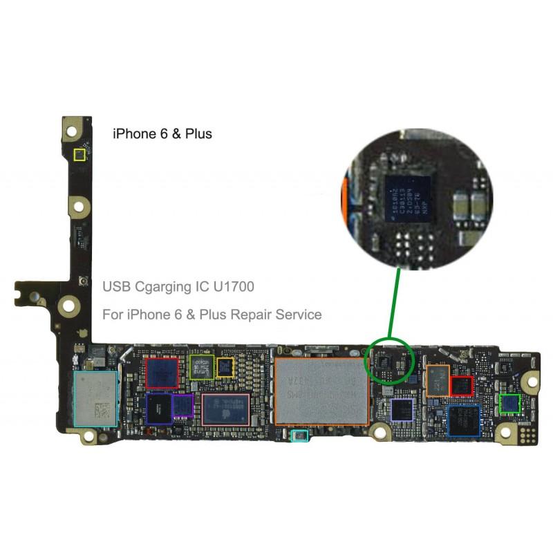 USB charging ic U2 1610A2 for iphone 6 & + Plus repair