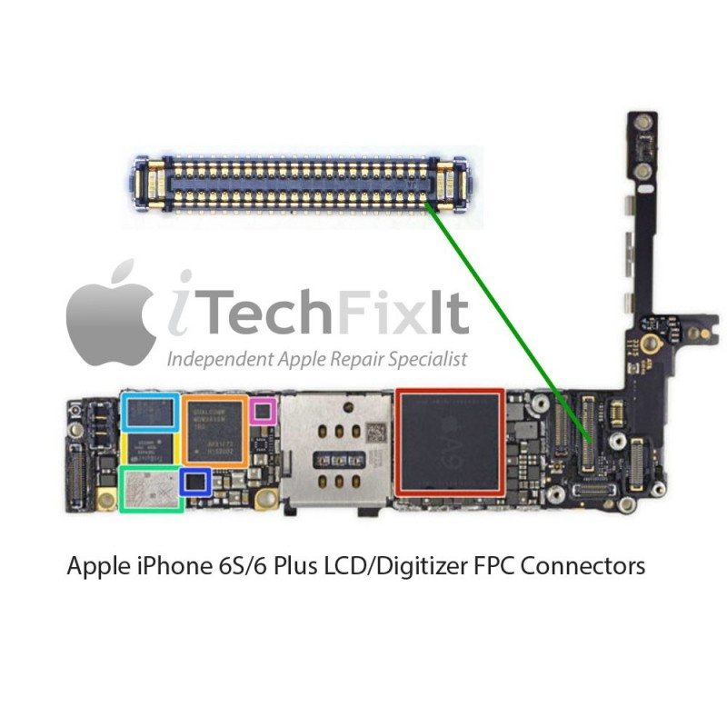 innovative design 94d07 258a7 FPC LCD Connector/Socket iphone 6S Repair Service - iTechFixit