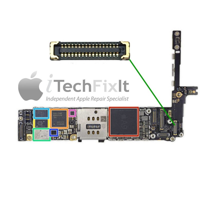 newest collection 601ed 22785 FPC Back camera connector iphone 6S Plus Repair Service - iTechFixit