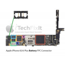 FPC Battery connector iphone 6S & Plus Repair Service