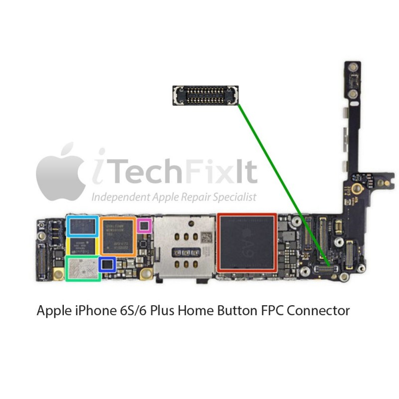 half off 0723f 3ec58 FPC Home button connector iphone 6S & Plus Repair Service - iTechFixit