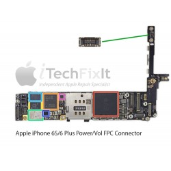 FPC Power/vol button connector iphone 6S & Plus Repair Service