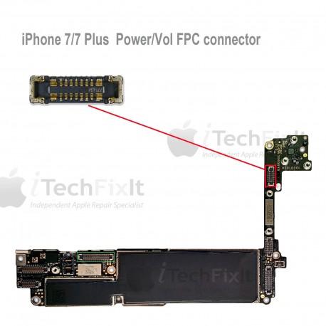 FPC Power/vol button connector iphone 7 & Plus Repair Service