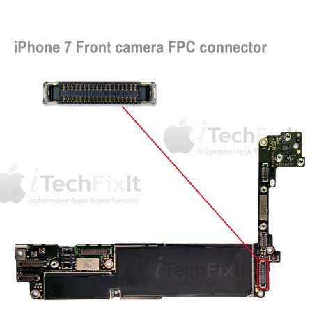FPC Front Camera connector iphone 7 & Plus Repair Service