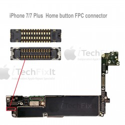 FPC Home connector iphone 7 & 7 Plus Repair Service