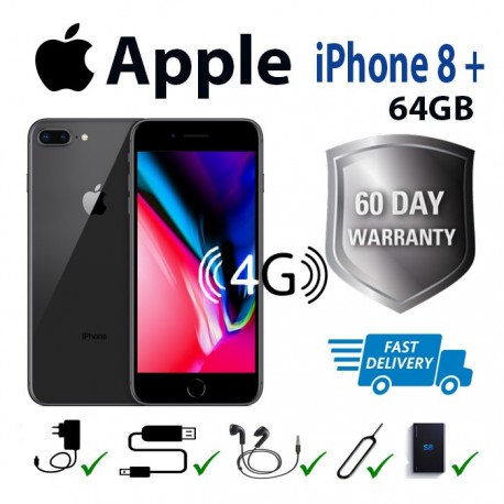 Apple iphone 8 Plus 64GB (Smartphone) Grey/Black Unlocked for any network