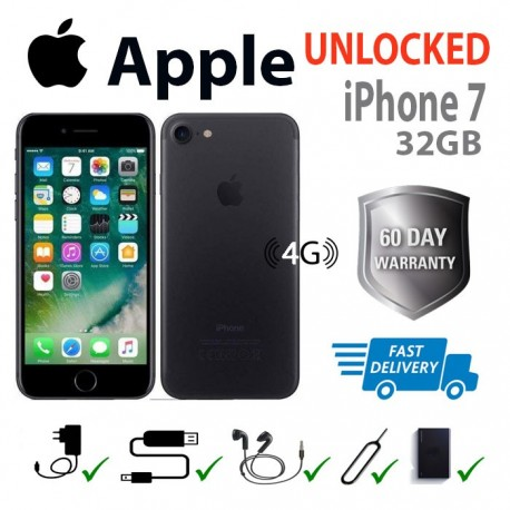 Apple iphone 7 32GB (UNLOCKED ANY NETWORK) Gray/Matt. Fully refurbished