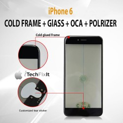 iPhone 6, 4 in 1 Cold Press Frame + Glass + Pre Applied OCA, Polarizer