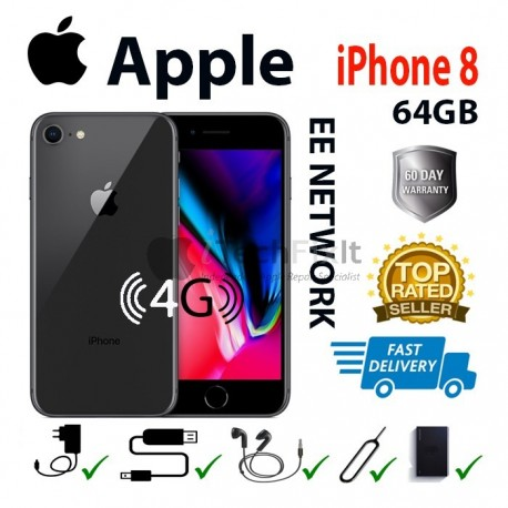 Apple iphone 8 64GB (Smartphone) Black EE network