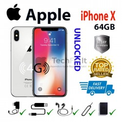 Apple iphone x 64GB (Smartphone) Silver Unlocked for any network