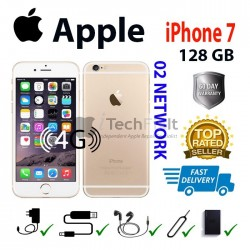 Apple iphone 7 128GB (Smartphone) Gold/White 02/Giffgaff network