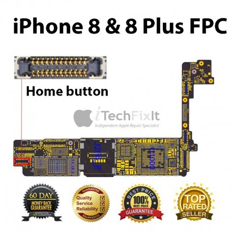FPC home button connector iphone 7 & Plus Repair Service