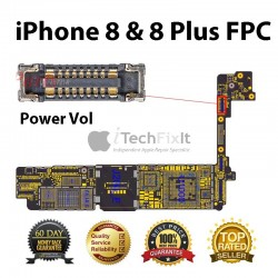 Power/vol FPC connector iphone 8 & 8 Plus Repair Service